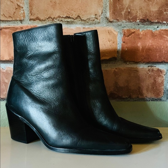 BCBGMaxAzria Shoes - BCBG MaxAzria black, leather ankle boots
